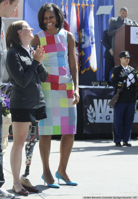 Image result for michelle obama preen dress