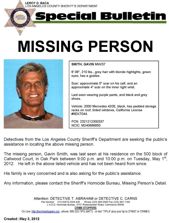 Gavin Smith Missing 20th Century Fox Executive Disappears In Los