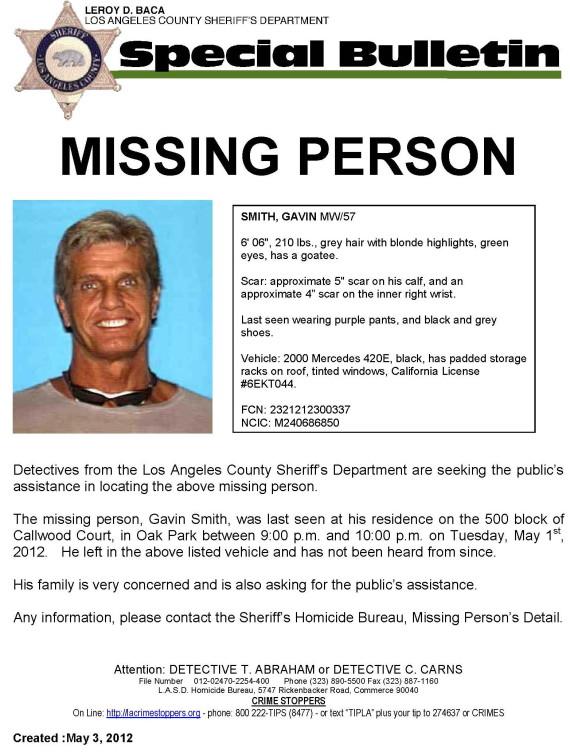 gavin smith missing
