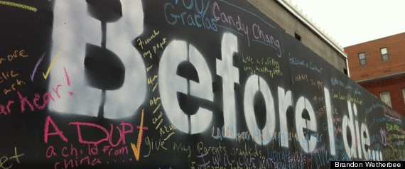 BEFORE I DIE AT 14TH AND Q NW