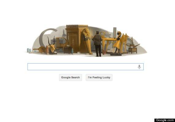 google doodle howard carter