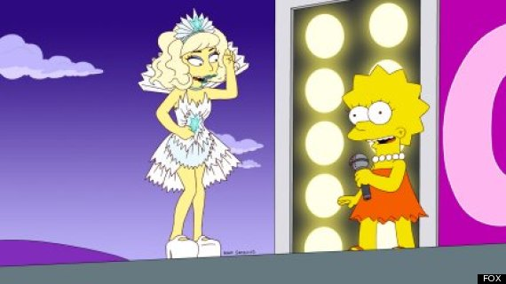gaga simpsons