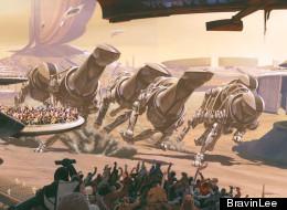 'Blade Runner' Futurist's Art Exhibiiton