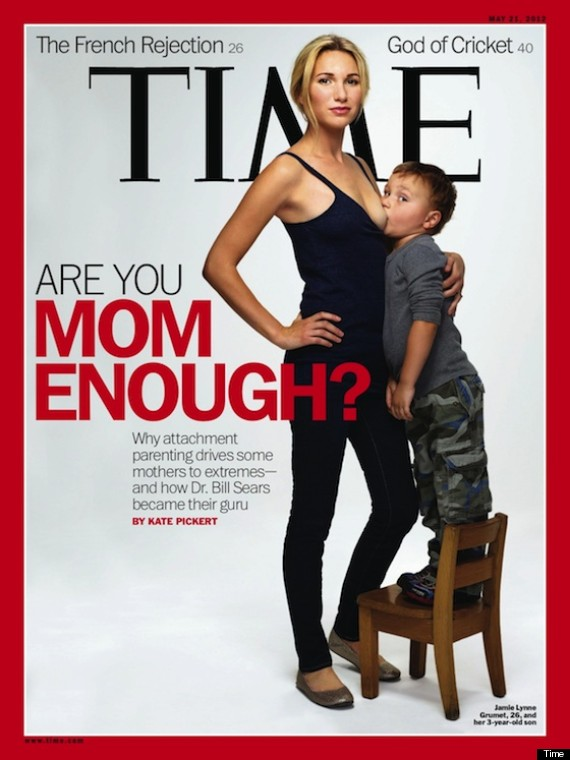 Jamie Lynne Grument breastfeeding on the cover of Time magazine