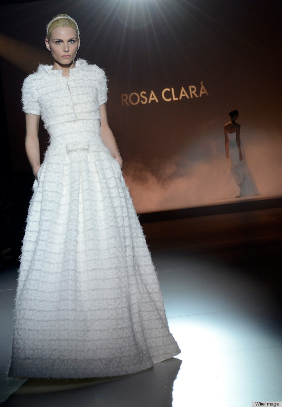 Andrej Pejic Wedding Dress Looks Gorgeous On Rosa Clara Runway ...