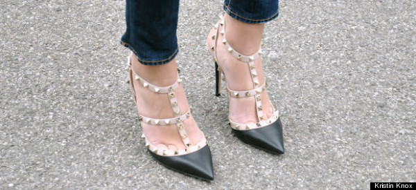 valentino studded pumps