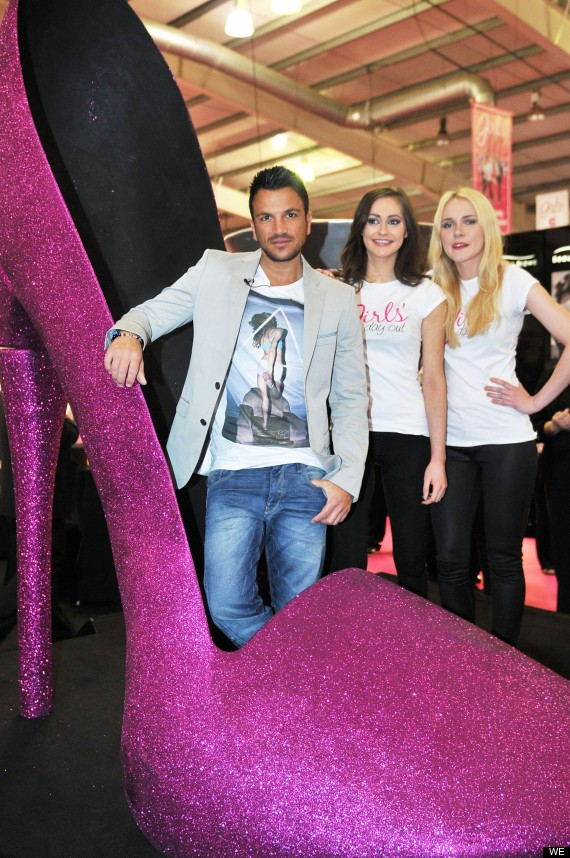 peter andre in shoe