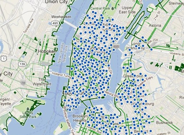 NYC Bike Share Map Reveals CitiBike Station Locations | HuffPost Citi Bike New York Map on new york pedestrians, new york bike map, new york bike commuter, new york bike sharing,
