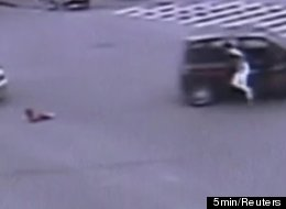 Dad Jumps From Car