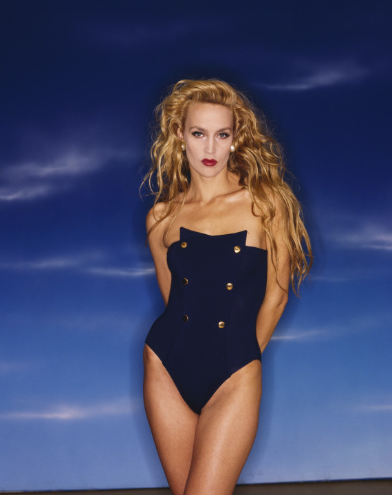 jerry hall bathing suit