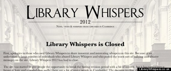 LIBRARY WHISPERS