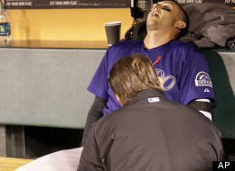 Tulo Hit By Line Drive