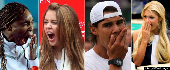 Yawning Celebrities