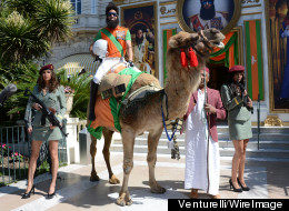 WATCH: The Dictator Dresses Down For The Beach...