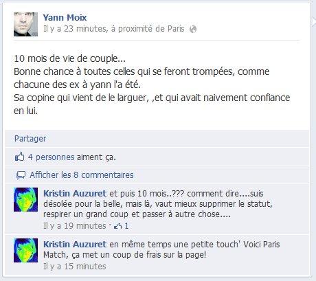 Le compte facebook de yann moix pirat par son ancienne copine for Statut ecrivain