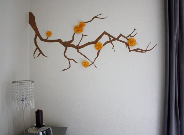 Wall Decor Flowers craft of the day: an adorable wall decoration that's free to make