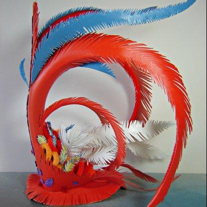 upcycled headdress