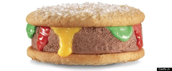 Carls Jr Ice Cream Burger