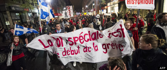 MANIF LOI SPECIALE MONTREAL