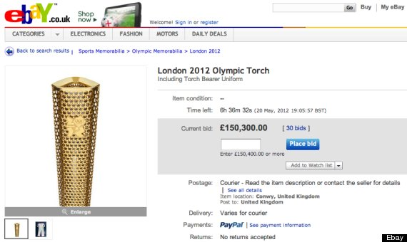 ebay olympic torch