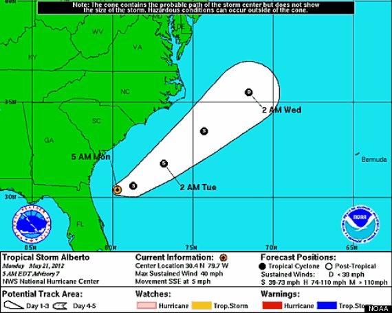 tropical storm alberto