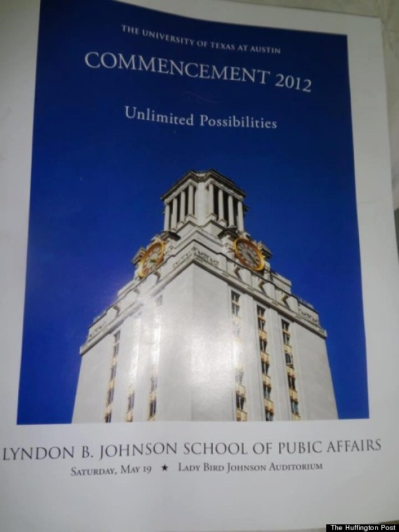 university of texas commencement typo
