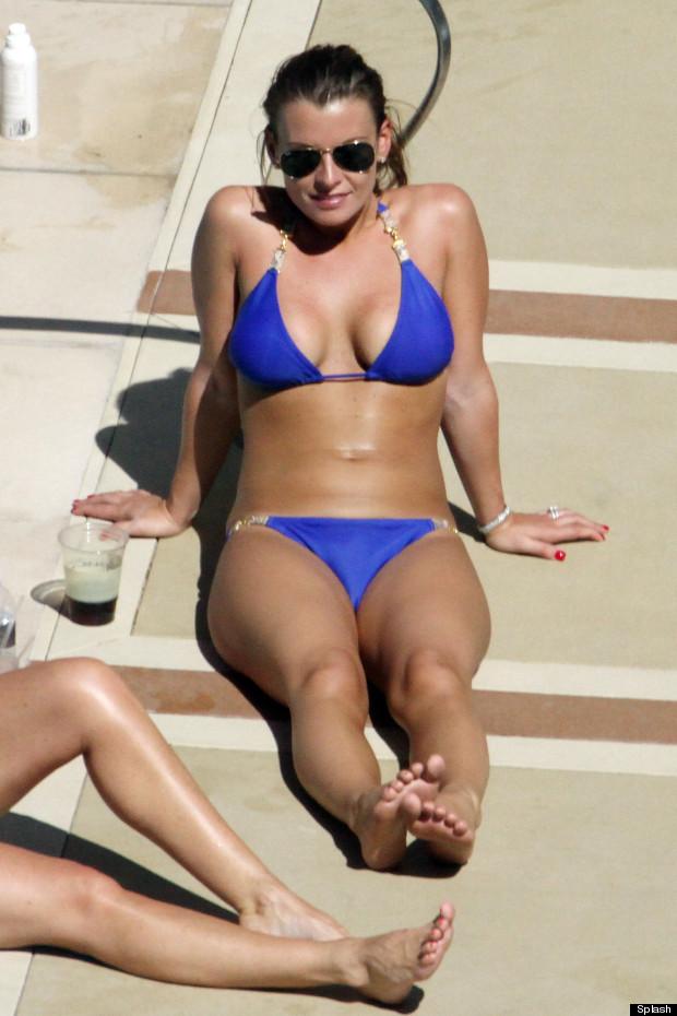 coleen rooney blue bikini