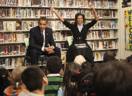 Obamas Read To DC School Children In Surprise Stop (VIDEO) (PHOTOS)