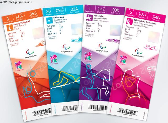 London 2012 Olympics Ticket Design Revealed – Ticket Design