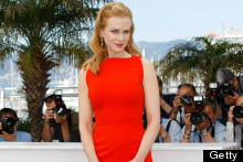 Nicole Kidman Brightens Up Cannes In Red (Or Is It Orange?)