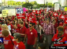 Chicago Teachers Union Protest Loop