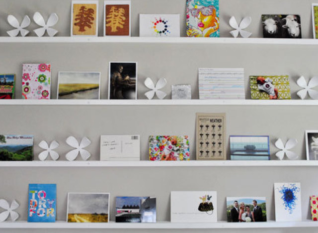 postcard shelves