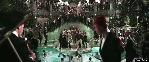 39 gatsby 39 trailer party foul there 39 s a zebra in the pool photo huffpost for Jay gatsby fear of swimming pools