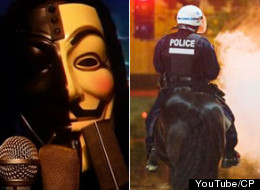 Anonymous Quebec Video Protest