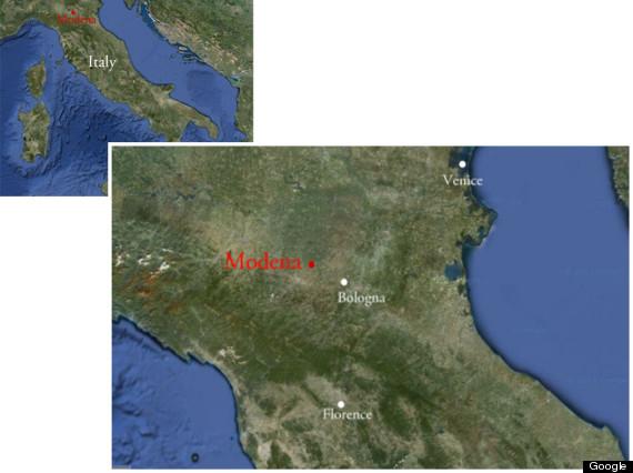 modena map