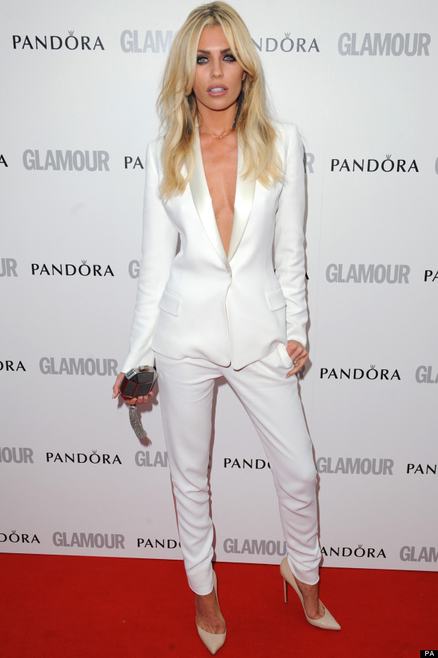 abbey clancy white suit