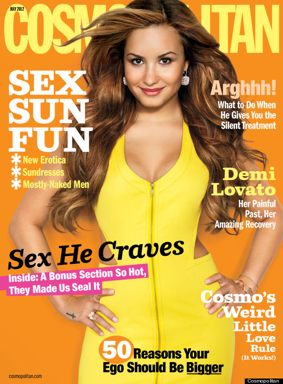 demi lovato cosmo july 2012