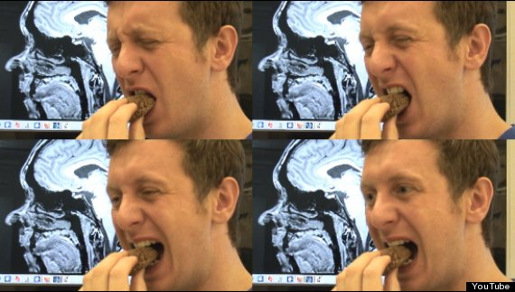 man eats brain