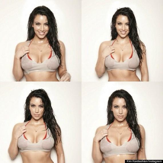 kim kardashian wet bikini