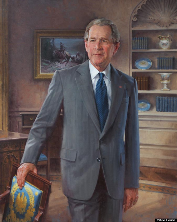President George W Bush Official Portrait Unveiled At