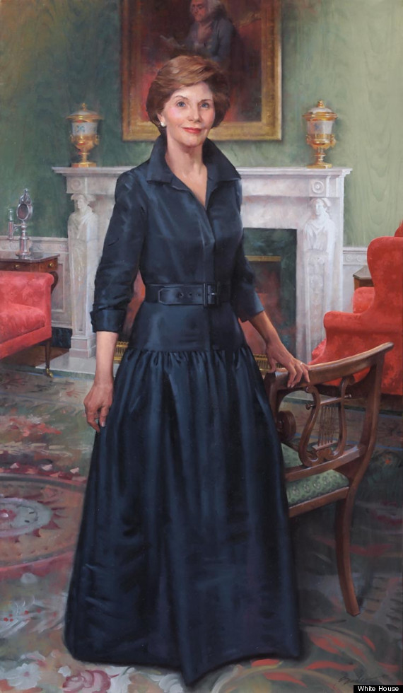 First Lady Laura Welch Bush Official Portrait Unveiled