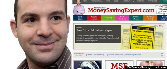 MONEYSAVINGEXPERT MARTIN LEWIS