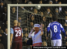 Her Majesty The Queen... In Goal