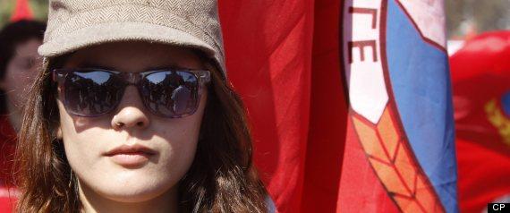 CAMILA VALLEJO QUEBEC PROTEST