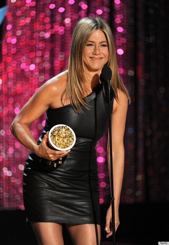 Jennifer Aniston Mtv Movie Awards 2012 Outfit Is Very, Er, Fitting Photos  Huffpost-7395