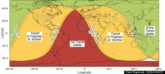 venus transit 2012 map