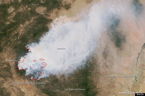 nasa photo new mexico fire