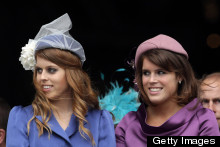 Princesses Beatrice and Eugenie Look Regal In Purple And Blue Ensembles