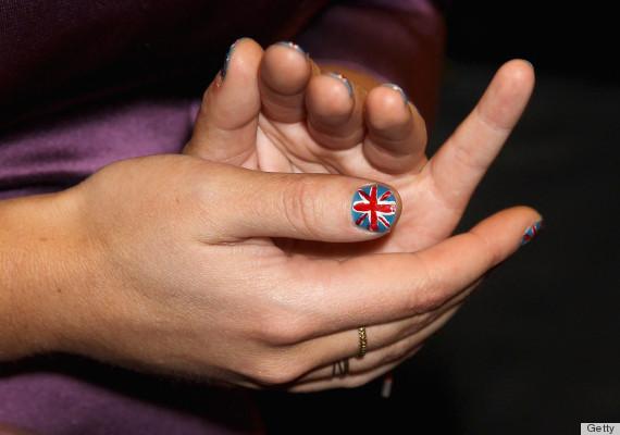 princess eugenie union jack nails