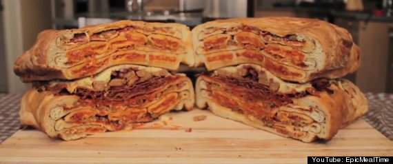 Epic Meal Time Ultimate Pizza Sandwich